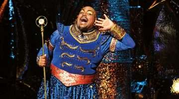 Trevor Dion Nichols as the Genie in Disney's Aladdin
