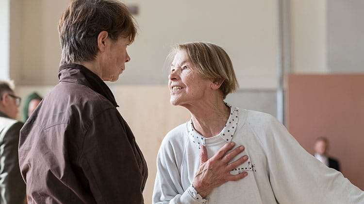 Celia Imrie & Glenda Jackson | King Lear | The Old Vic. Photos: Manuel Harlan