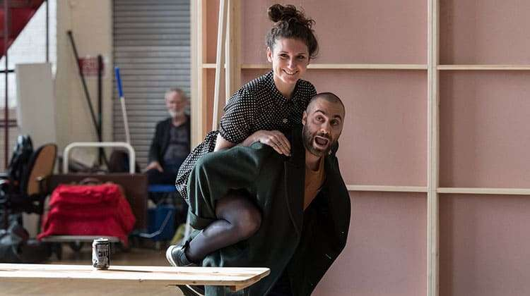 Bessie Carter & Sargon Yelda   King Lear   The Old Vic. Photos by Manuel Harlan   Photos: King Lear in rehearsal at The Old Vic