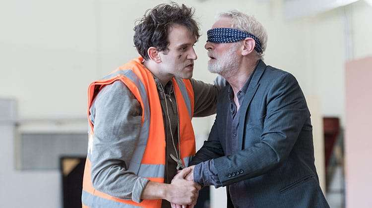 Harry Melling & Karl Johnson   King Lear   The Old Vic. Photos: Manuel Harlan   Photos: King Lear in rehearsal at The Old Vic