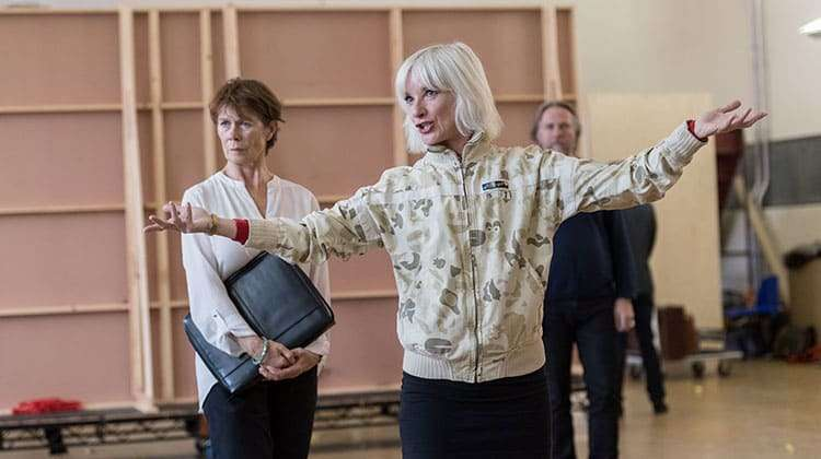 Celia Imrie & Jane Horrocks   King Lear   The Old Vic. Photos: Manuel Harlan   Photos: King Lear in rehearsal at The Old Vic