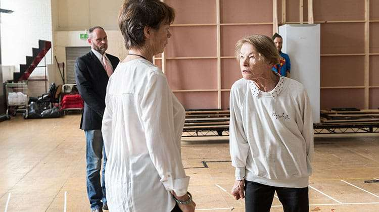 Celia Imrie & Glenda Jackson   King Lear   The Old Vic. Photos: Manuel Harlan   Photos: King Lear in rehearsal at The Old Vic