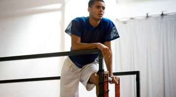Layton Williams in rehearsals for RENT credit Matt Crockett