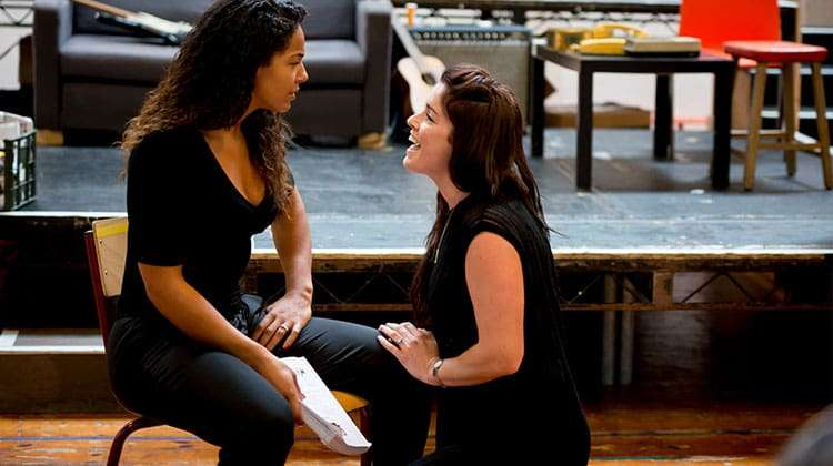 Shanay Holmes and Lucie Jones in rehearsals for RENT credit Matt Crockett | In rehearsal: Rent the musical