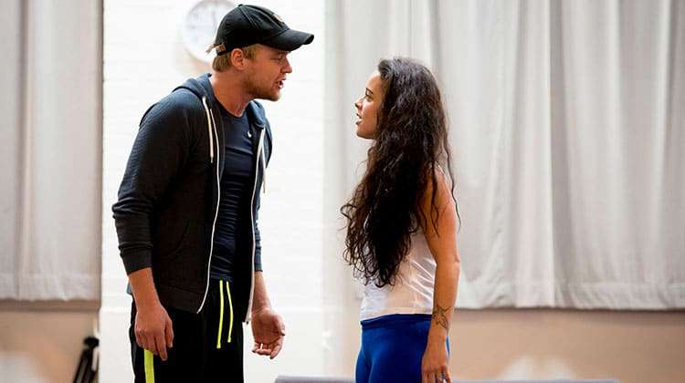 Ross Hunter and Philippa Stefani in rehearsals for RENT credit Matt Crockett | In rehearsal: Rent the musical