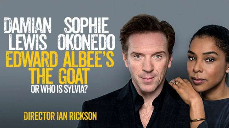 Damian Lewis and Sophie Okonedo star in Edward Albee's The Goat, Or Who Is Sylvia? at the Theatre Royal Haymarket, London