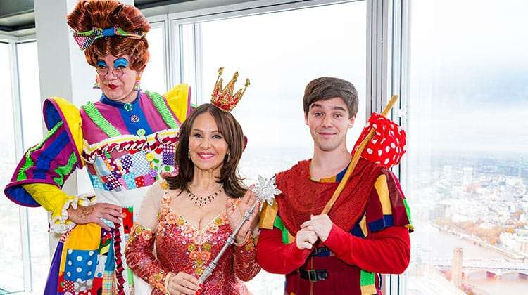 Matthew Kelly, Arlene Phillips, Sam Hallion | Photo: Darren Bell | Matthew Kelly and Arlene Phillips get into Panto mode
