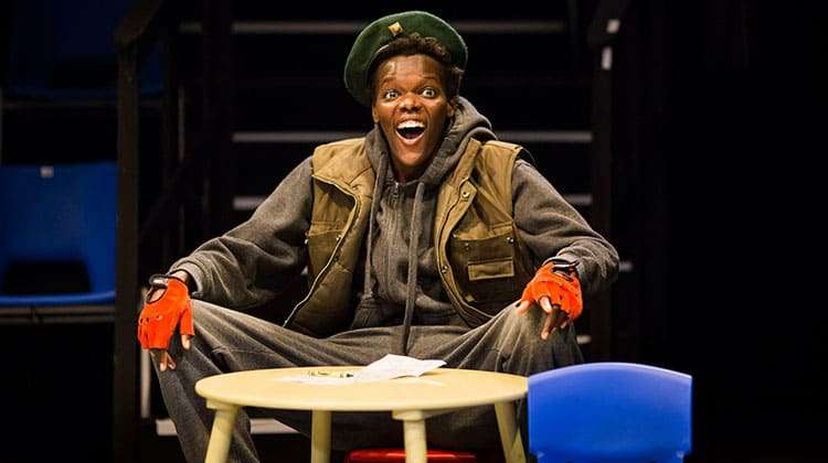 Sheila Atim (Gadshill) in Henry IV - Photo: Helen Maybanks | First Look: Donmar Shakespeare Trilogy