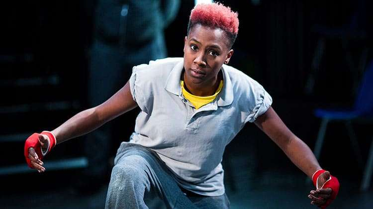 Jade Anouka (Hotspur) in Henry IV - Photo: Helen Maybanks