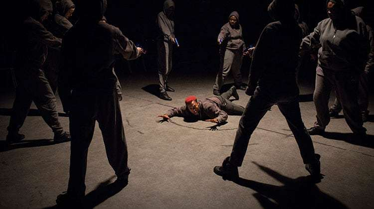 Jade Anouka (Mark Antony) in Julius Caesar - Photo: Helen Maybanks