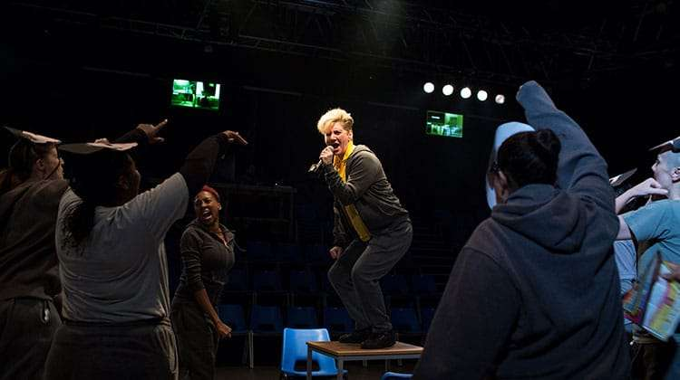 Jackie Clune (Julius Caesar) in Julius Caesar - Photo: Helen Maybanks | First Look: Donmar Shakespeare Trilogy