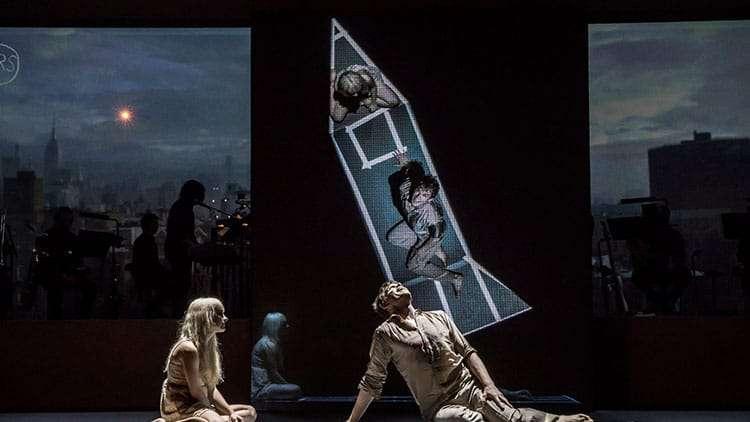 Michael C Hall & Sophia Anne Caruso in Lazarus | Kings Cross Theatre | London | David Bowie's Lazarus
