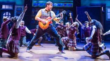 David Fynn with cast from School of Rock photo by Tristram Kenton