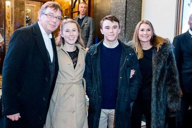 Adam Woodyatt and family | Photo: Craig Sugden | In Pictures: Cinderella opening night at London Palladium