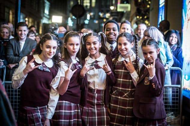Kids from the cast of School of Rock  | Photo: Craig Sugden | In Pictures: Cinderella opening night at London Palladium