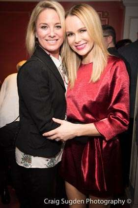Tamzin Oathwaite & Amanda Holden   Photo: Craig Sugden   In Pictures: Cinderella opening night at London Palladium