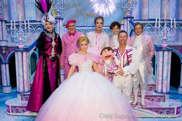Paul O'Grady, Count Arthur Strong, Natasha J Barnes, Julian Clary, Lee Mead, Paul Zerdin and Nigel Havers | Photo: Craig Sugden | In Pictures: Cinderella opening night at London Palladium