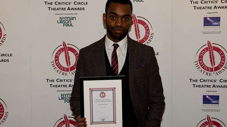 Jaygann Ayeh | Critics Choice Theatre Awards 2016 | In Pictures: Critics Circle Theatre Awards