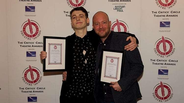 Anthony Boyle & John Tiffany | Critics Choice Theatre Awards 2016 | In Pictures: Critics Circle Theatre Awards