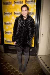Imogen Thomas at Gala Performance of Beautiful - The Carole King Musical, Aldwych Theatre, London, 2017