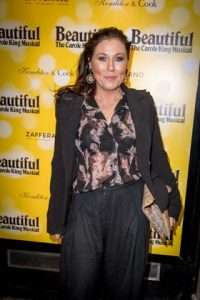 Jessie Wallace at Gala Performance of Beautiful - The Carole King Musical, Aldwych Theatre, London, 2017