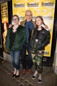 Larry Lamb and daughters at Gala Performance of Beautiful - The Carole King Musical, Aldwych Theatre, London, 2017