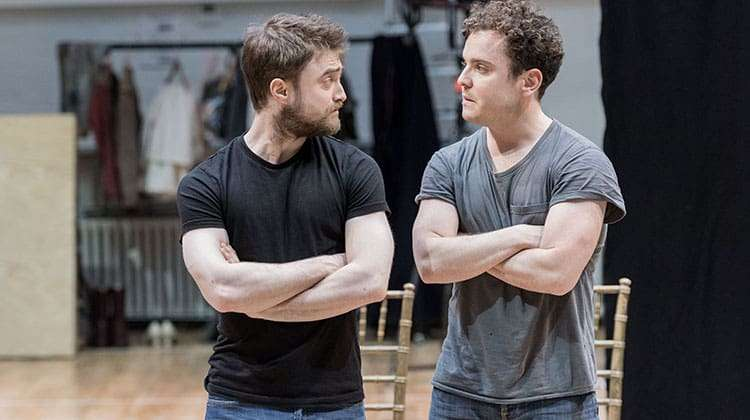 Joshua McGuire & Daniel Radcliffe. Photo: Manuel Harlan  | In rehearsal: Harry Potter star Daniel Radcliffe at the Old Vic