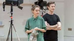 Rehearsal images for Rosencrantz & Guildenstern Are Dead at the Old Vic Theatre, London 2017