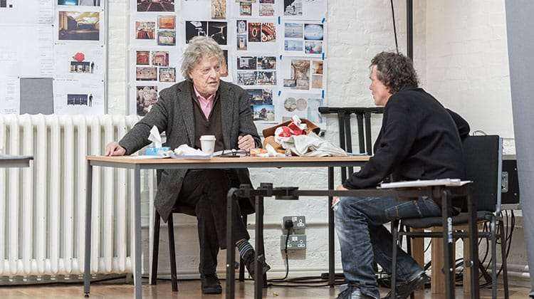 Tom Stoppard and David Leveaux at rehearsals for Rosencrantz & Guildenstern Are Dead at the Old Vic Theatre, London 2017