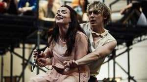Christina Bennington & Andrew Polec in rehearsal for Bat Out Of Hell The Musical, UK production, 2017