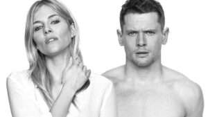 Sienna Miller and Jack O'Connell posing for publicity image for London run of Cat On A Hot Tin Roof
