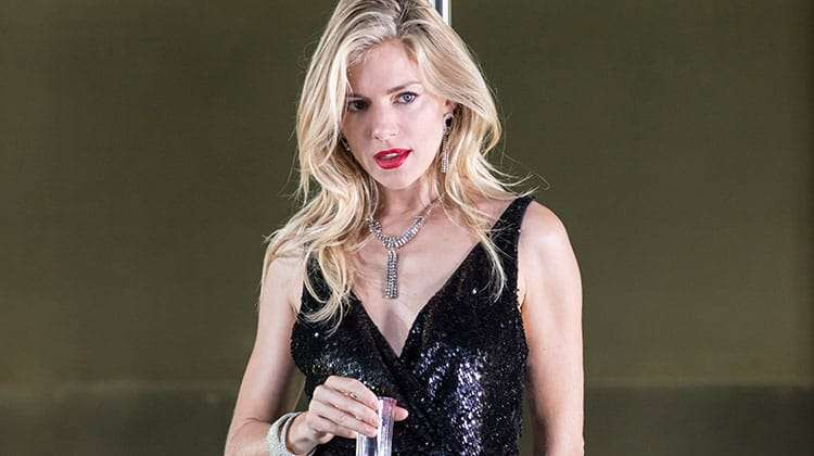 Sienna Miller in Cat on a Hot Tin Roof at Apollo Theatre, London