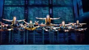 Production image from Disney's Newsies The Broadway Musical