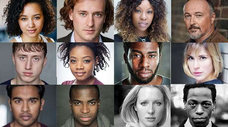 cast headshots for Don Juan in Soho, Wyndham's Theatre, London, 2017