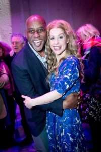Ainsley Harriott & Cassidy Janson at Gala Performance of Beautiful - The Carole King Musical, Aldwych Theatre, London, 2017