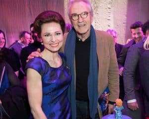 Barbara Drennan & Larry Lamb at Gala Performance of Beautiful - The Carole King Musical, Aldwych Theatre, London, 2017