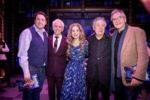 Jason Manford, Tony Christie, Cassidy Janson, Terry Jones & Larry Lamb at Gala Performance of Beautiful - The Carole King Musical, Aldwych Theatre, London, 2017