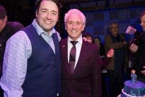 Jason Manford & Tony Christie at Gala Performance of Beautiful - The Carole King Musical, Aldwych Theatre, London, 2017