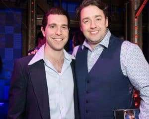 Joseph Prouse & Jason Manford at Gala Performance of Beautiful - The Carole King Musical, London, 2017