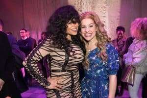 Stacy Francis & Cassidy Janson at Gala Performance of Beautiful - The Carole King Musical, Aldwych Theatre, London, 2017
