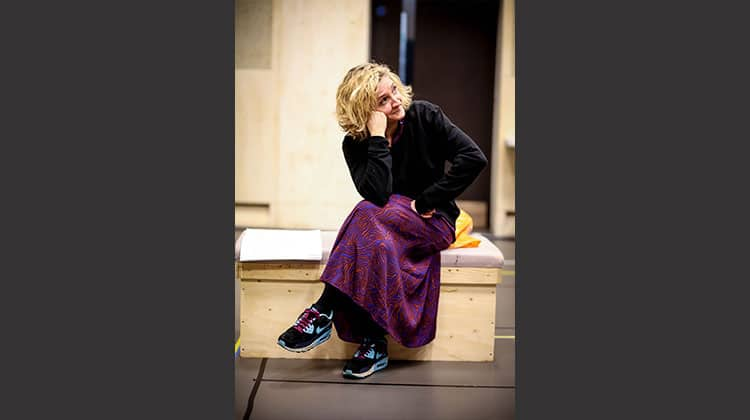 Debra Gillett in rehearsal for Limehouse | Donmar Warehouse. Photo: Jack Sain | First Look: Limehouse at Donmar Warehouse