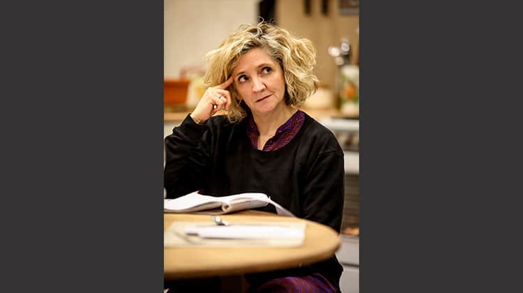 Debra Gillett in rehearsal for Donmar Warehouse production of Limehouse, London, 2017