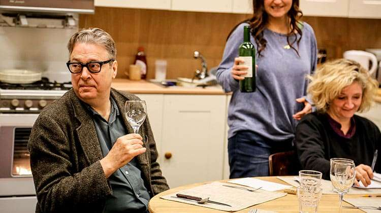 Rehearsal image for Donmar Warehouse production of Limehouse, London, 2017