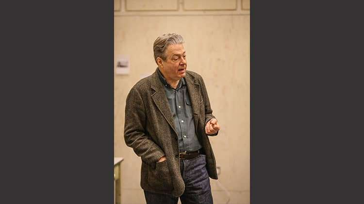 Roger Allam in rehearsal for Donmar Warehouse production of Limehouse. London, 2017