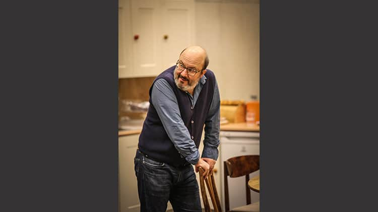 Paul Chahidi in rehearsal for Donmar Warehouse production of Limehouse, London, 2017