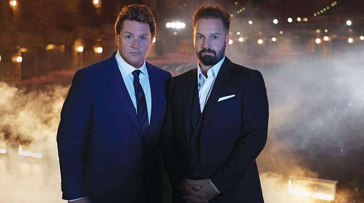 Michael Ball and Alfie Boe on stage together