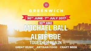 Artwork for Greenwich Music Time Festival starring Michael Ball and Alfie Boe