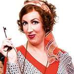 Miranda Hart as Miss Hannigan in Annie The Musical, London