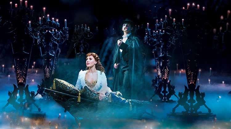 Celinde  Schoenmaker as Christine & Ben Forster as The Phantom | Ben Forster extends his run in Phantom of the Opera