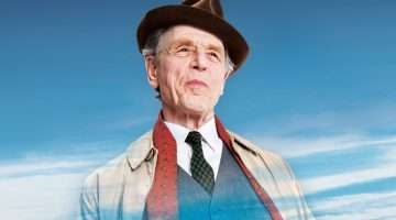 publicity image - Edward Fox in Sand in the Sandwiches, Theatre Royal Haymarket, London 2017